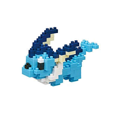 Nanoblock Vaporeon Pocket Monsters + Gift Tweezers Plastic Cube Building Blocks (Smartoys): Toys & Games