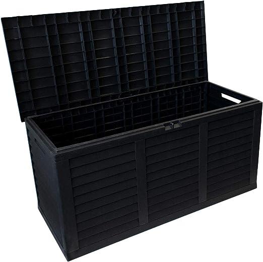 Arcón/baúl de plástico multiusos de 380L/120 X 52 X 60 cm : Amazon.es: Jardín