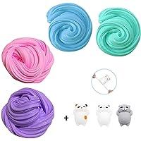 Fluffy Slime Kit, TIME4DEALS 4-Pack Jumbo Floam Slime