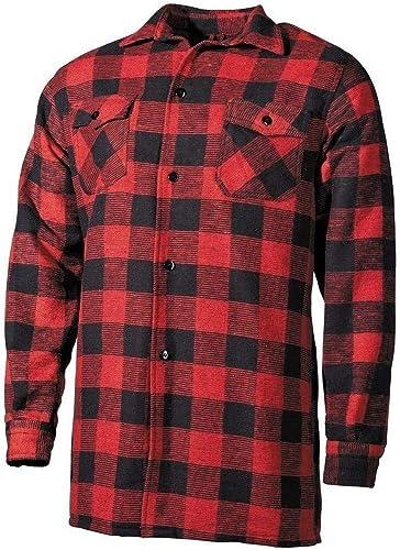 Mil-Tec Outdoor - Camisa de leñador del ejército alemán, Color Negro/Rojo: Amazon.es: Ropa y accesorios