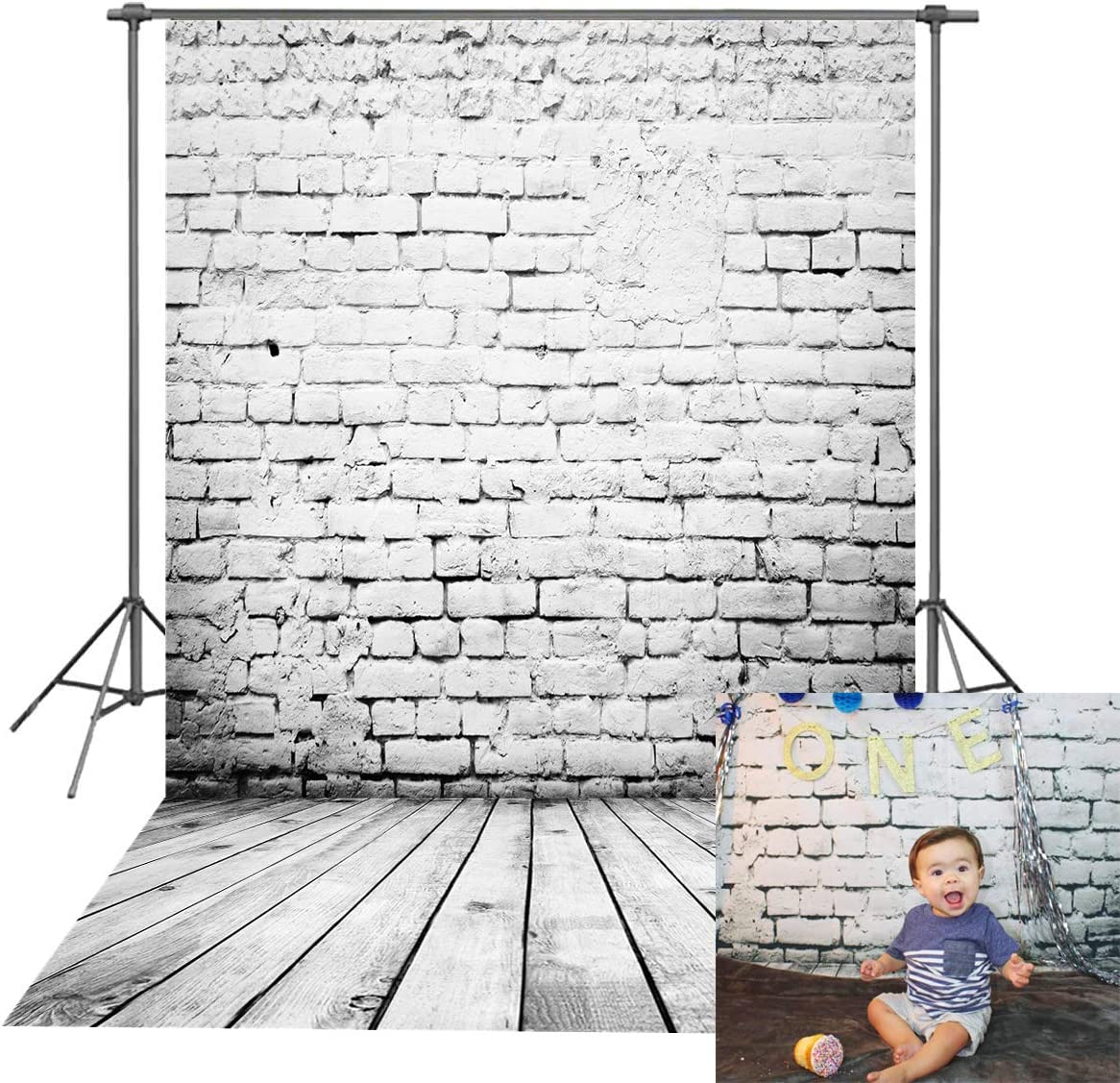 Photography Background Blue Wall Wood Floor with DIY Easter Eggs Backdrops for Photo 7x5ft Polyester Photographic Backgrounds Cloth for Child Pictures
