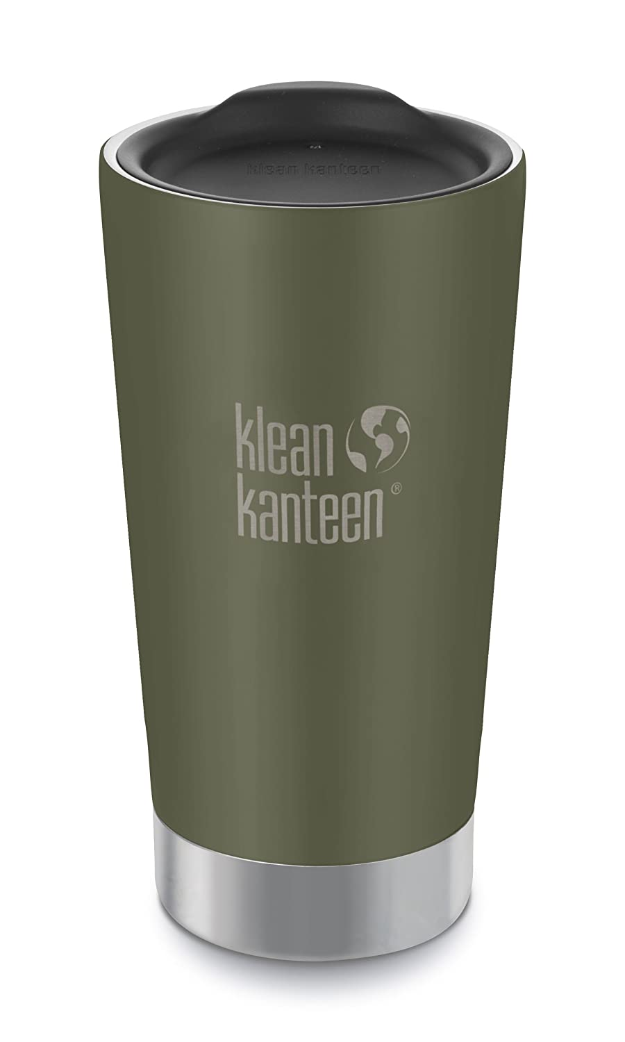 Klean Kanteen Double Wall Vacuum Insulated Stainless Steel Tumbler Cup with Tumbler Lid K16VSSC-BS-P