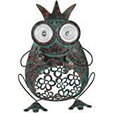 Nature's Garden Frog with Crown Solar/Metal Critter Statue