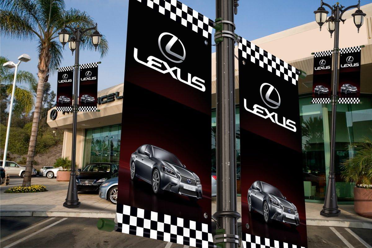 Lexus Auto Dealer Vertical Avenue Pole Banner Signs