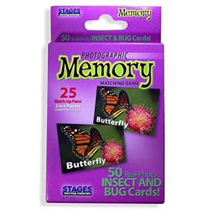 Stages Learning Materials Picture Memory Insects And Bugs Card Game Real Photo Concentration For Home