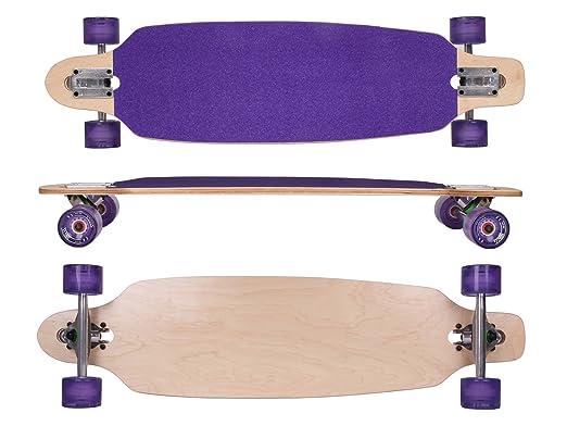 46 opinioni per MAXOfit® Deluxe Longboard Roxy No.26, Drop Through, 91,5 cm, 9 stratti, ABEC11