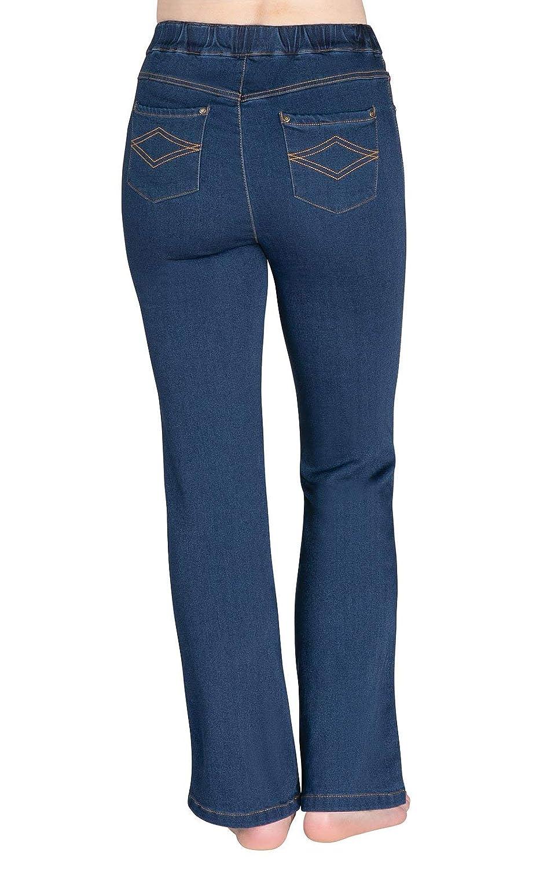 d378c34b9 PajamaJeans Women's Bootcut High-Waist Stretch Denim Jeans at Amazon  Women's Jeans store