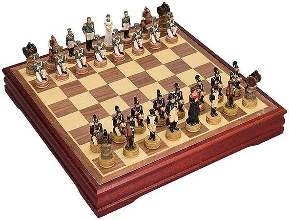 Ajedrez Juego de ajedrez Internacional de Madera Juego de Piezas Juego de Mesa Colección de ajedrez Juego de Mesa portátil Juegos de Viaje Juguetes Regalo ajedrez magnetico (tamaño : A): Amazon.es: Hogar