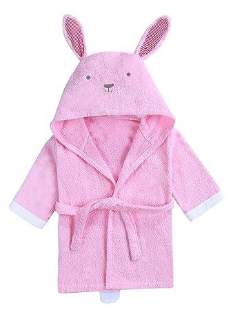 URBEAR Toalla de baño para 100% algodón Pijamas Con Capucha De Baño ...