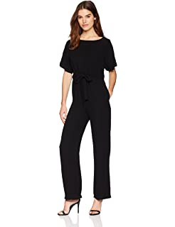 07634adf678 French Connection Women s Patras Crepe Off The Shoulder Tie Jumpsuit with  Pockets