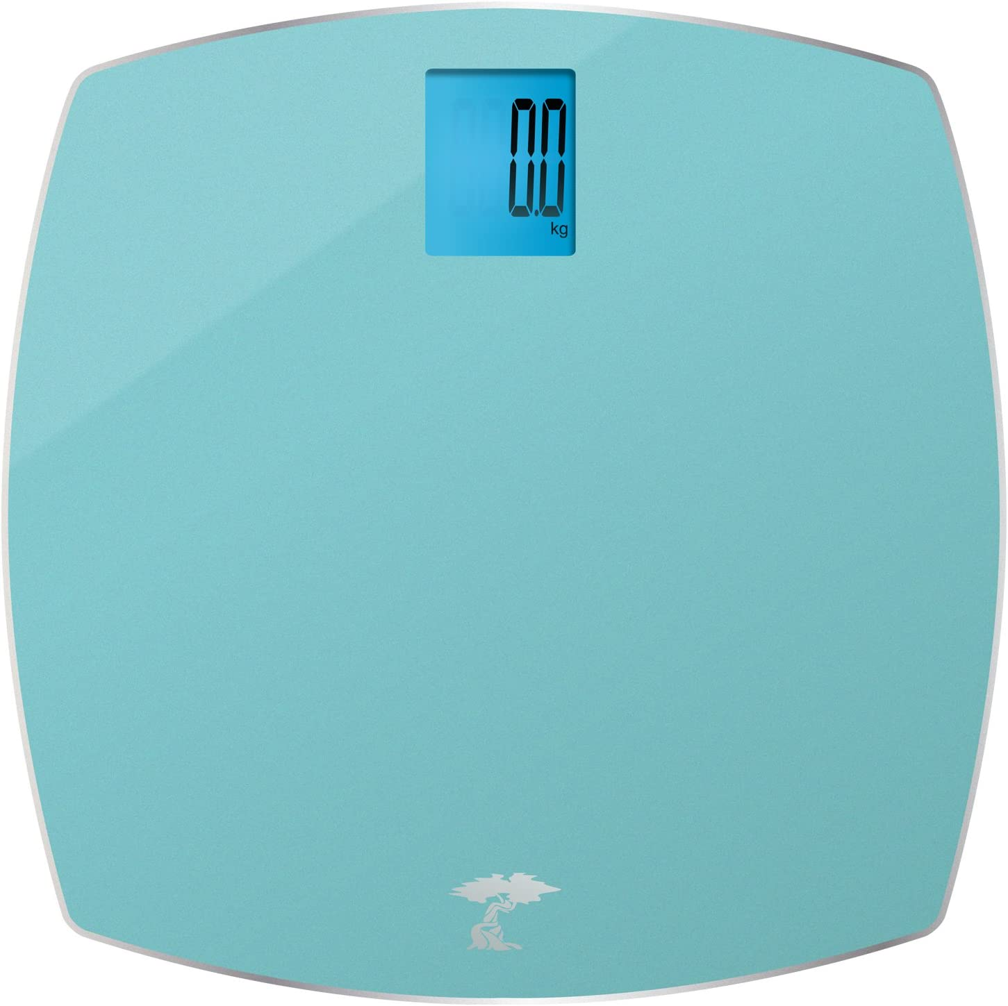 ToiletTree Products 400 lb Capacity Precision Digital Glass Bathroom Scale, Blue