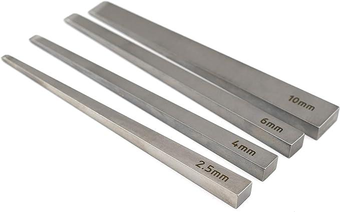 2,5 mm, 4 mm, 6 mm, 10 mm Juego de cinceles de acero para herramientas Quality DC53