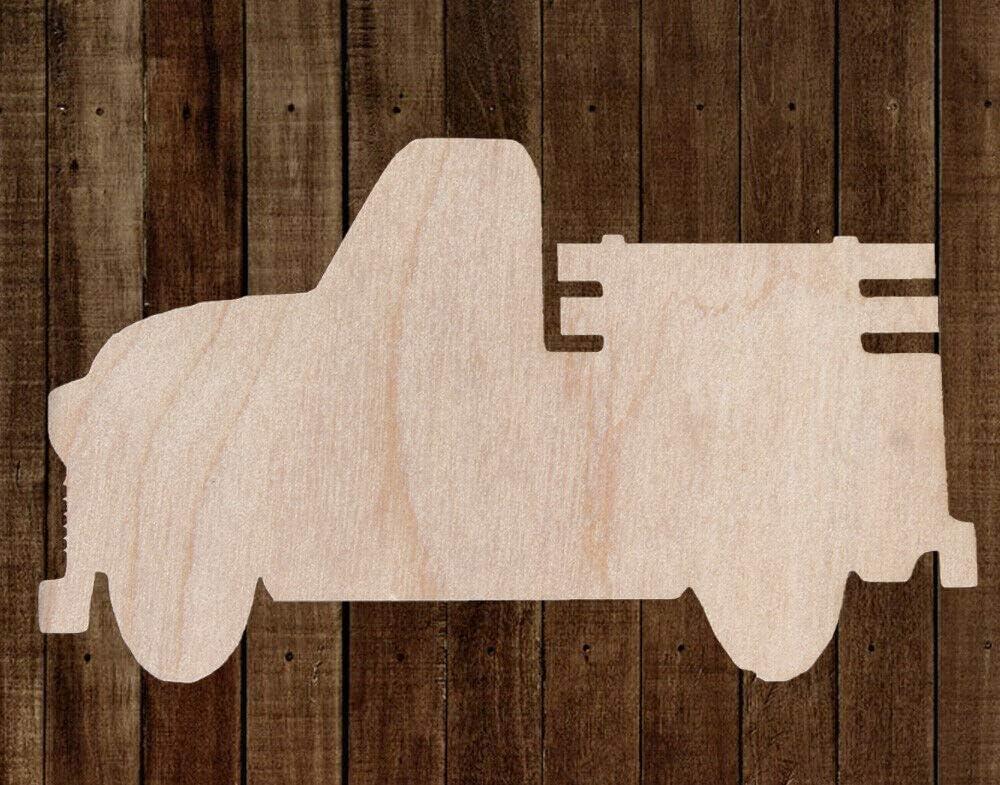Blank Wood Craft Shapes Wood Truck Cutout Vintage Pickup Truck Wood Cutout Antique Pickup Truck Wooden Shape