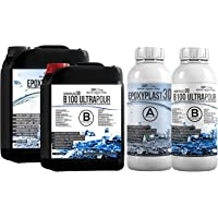 EpoxyPlast 3D B100, 3,0 kg epoxyhars, ultrahelder, 11 cm (110 mm) giethoogte voor rivertische apparaten, ultra…