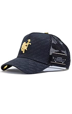 033b34070 Red Monkey Gold Monkey Repeat Black Fashion Trucker Hat Cap at ...