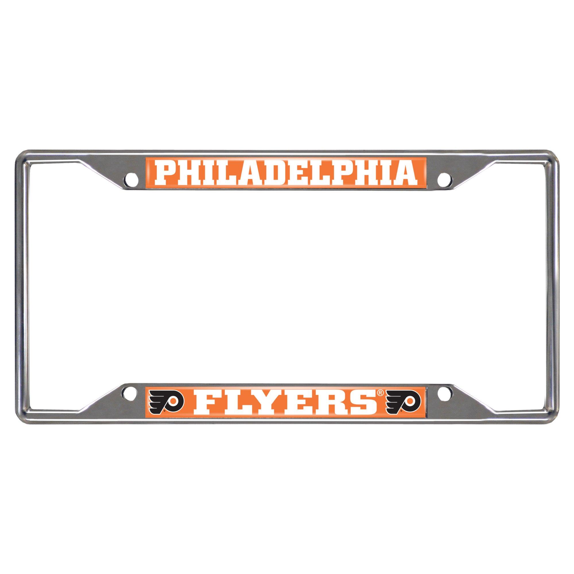 FANMATS 14883 NHL Philadelphia Flyers Chrome License Plate Frame by Fanmats