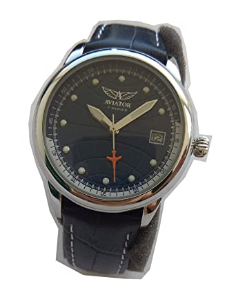 Band Watch Women's Avw6974l105 Aviator Leather Series Stainless F DHeIE9YW2
