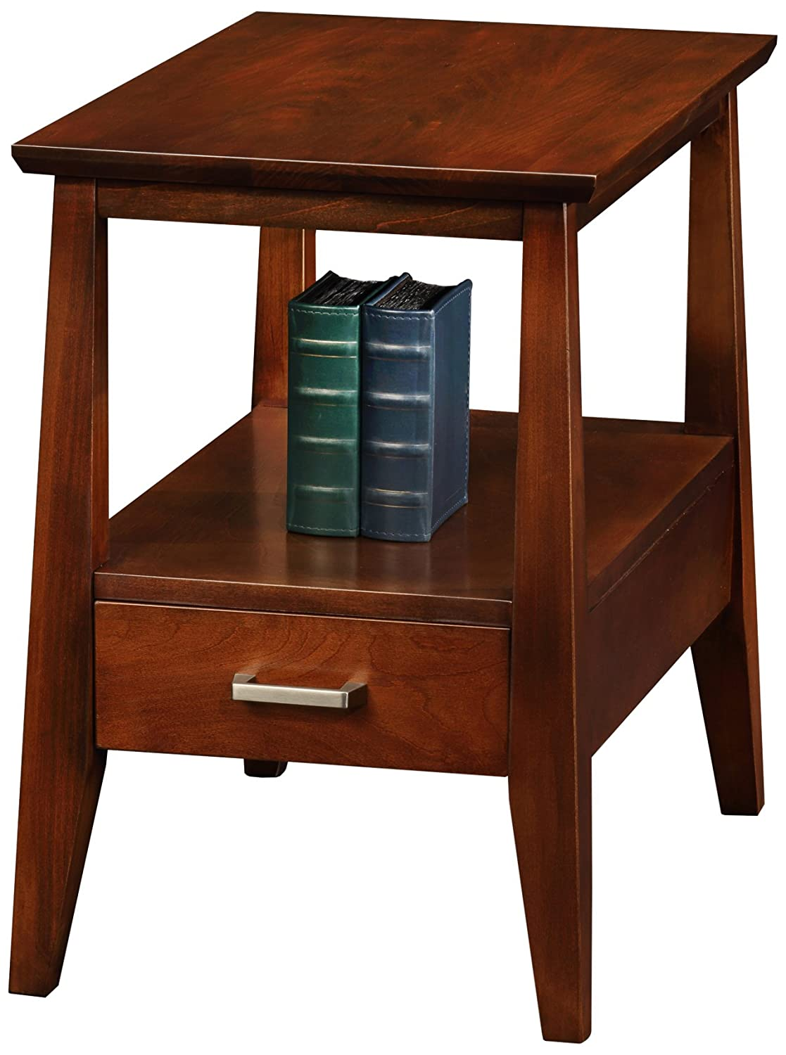 Leick Delton Storage Chair Side End Table with Drawer 10406