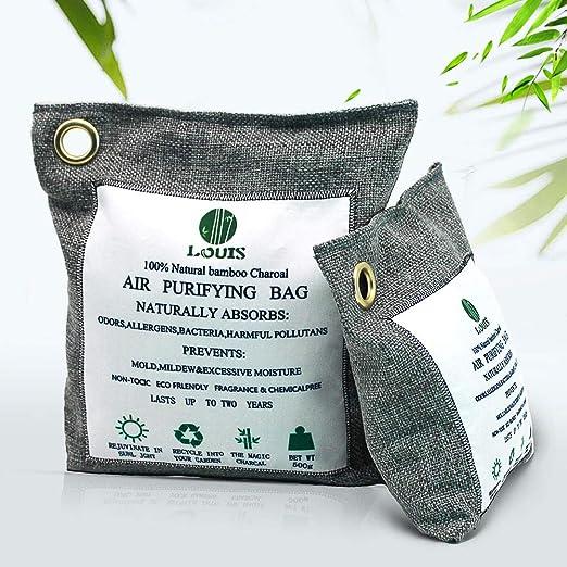Louis-008 Bolsa de purificación de Aire, Sensor de Olor a carbón Activado 100% Natural, ambientador, deshumidificación doméstica, Agente antimoho, ...