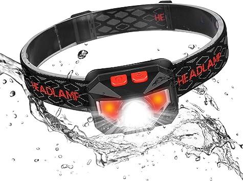 Ofuca - Linterna frontal impermeable IPX45 LED con sensor de ...