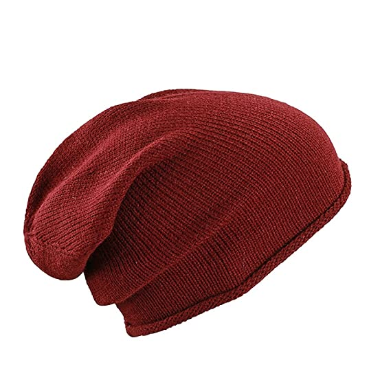 Myrtle Beach Casual extra-long beanie (dark-red)  Amazon.co.uk ... f3d763d99f4