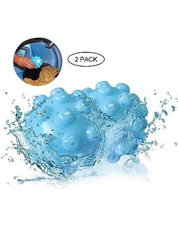 KOBWA Bolas Secadoras Antiarrugas,Removedor De Arrugas Vapor Ropa Seca Bola Reutilizable Lavado con Eco