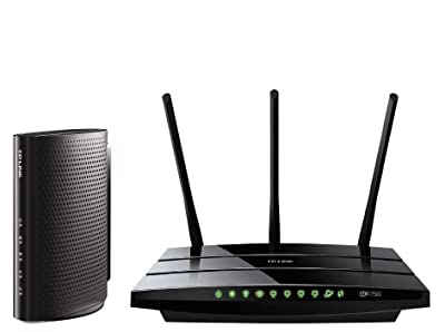 TP-Link Upgrade to AC Wireless WiFi Bundle - Archer C7 Wireless Wi-Fi Router and DOCSIS 3.0 (8x4) High Speed Cable Modem Bundle