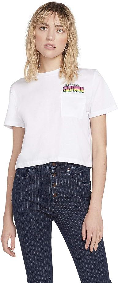 Volcom Cali Tea Pocket Tee - Camiseta para mujer: Amazon.es: Ropa y accesorios