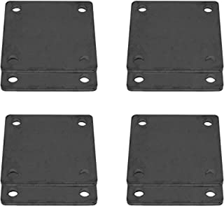 8 Pcs of Hot Rolled Steel Base Plate 5' X 5' with 4 Holes and Rounded Corner