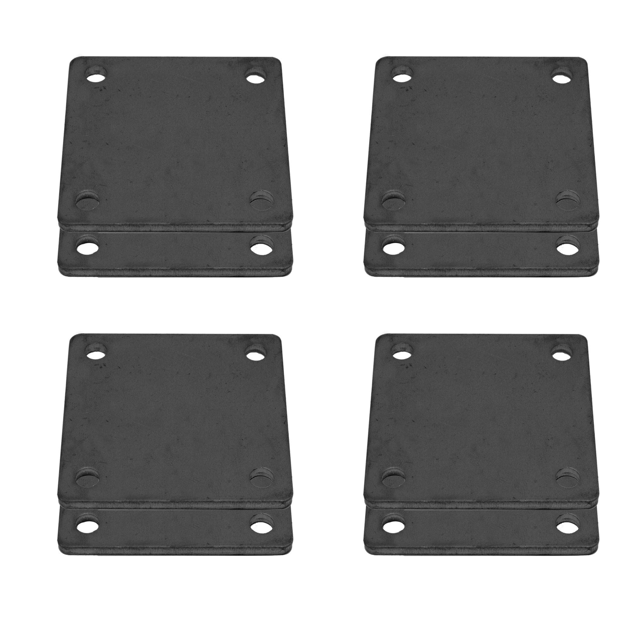 8 Pcs of Hot Rolled Steel Base Plate 6'' X 6'' with 4 Holes and Rounded Corners by Bobco Metals