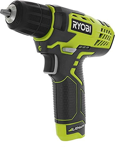 Ryobi HP108L Compact 8 Volt Lithium Ion Cordless 3 8 580 RPM Drill Driving Kit 8V 1.3 Amp Hour Battery and Charger Included