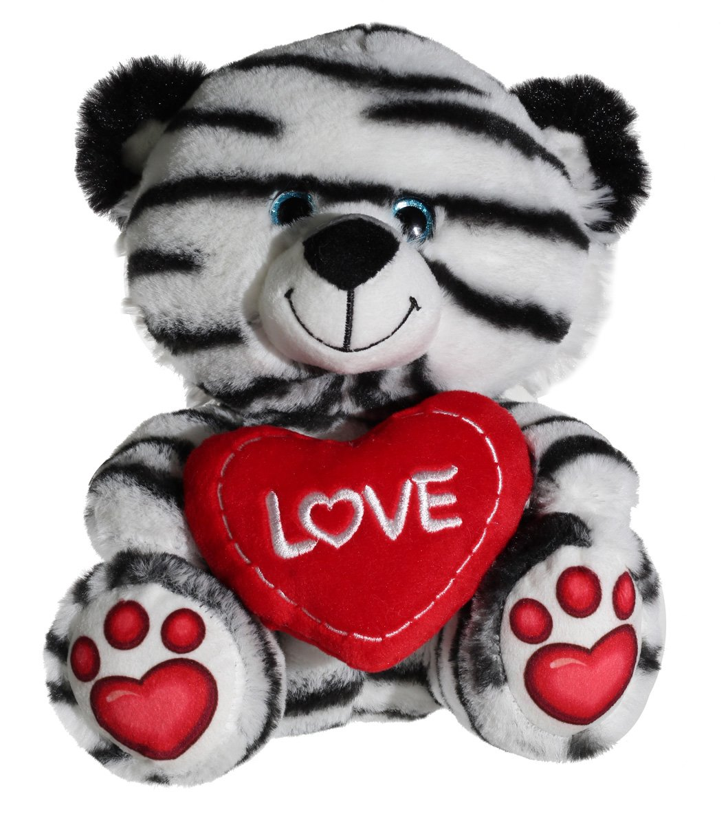Calplush Valentine Friends 9 Striped Bear Plush Animal Toy NIXEU V1061-9