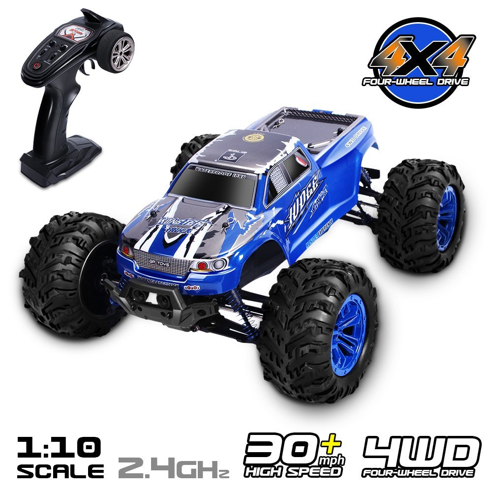 2.GPTOYS RC Car 1/10 4WD Off Road Vehicle 2.4GHz Remote Control Truck Waterproof S920 for Adults and Kids