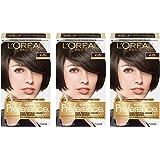 L'Oréal Paris Superior Preference Permanent Hair Color, 4 Dark Brown, 3 Count