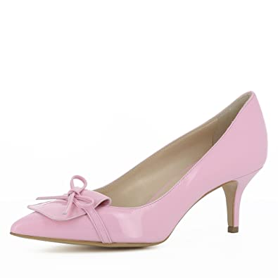 Evita Shoes Lisa Escarpins Femme Cuir Verni Rose 41