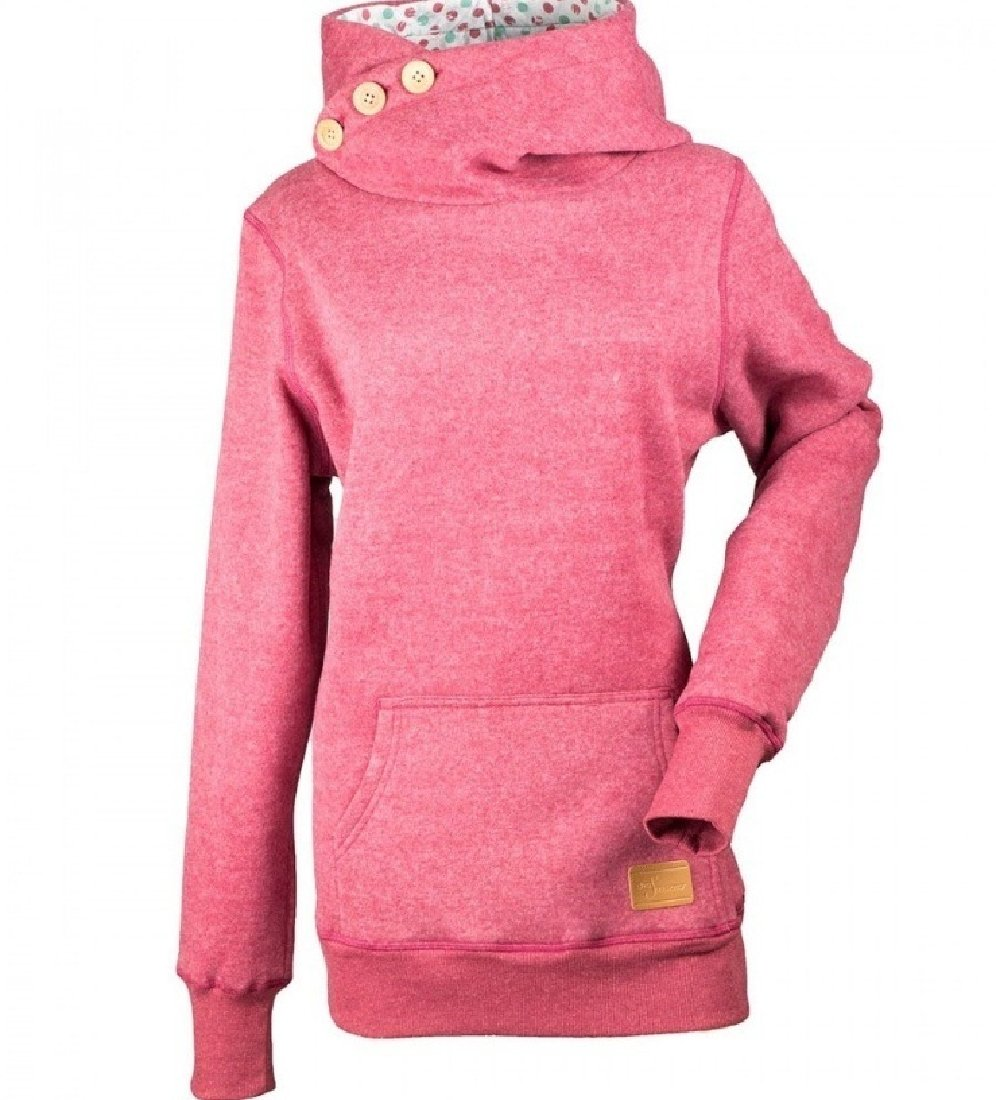 Freely Women's Pullover Long Sleeve Plus Size Hooded with Pocket Hoodies