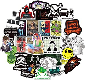 DOFE 50 PCS Hacker Stickers,Laptop Stickers,Guitar Motorcycle Bicycle Luggage Decal Graffiti Patches for Teens.