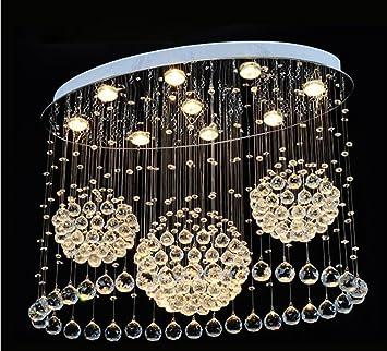 Yjmgrowing Lamparas de Techo de Cristal Crystal Chandelier ...