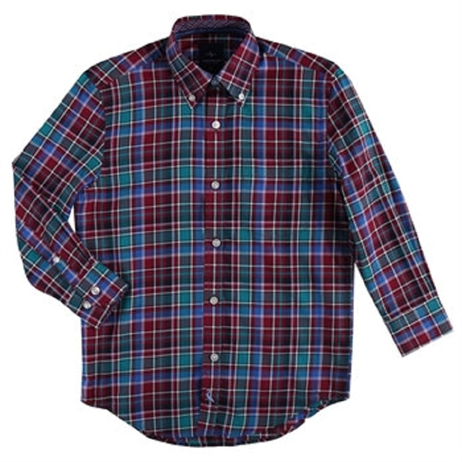 top TailorByrd Boys 8-20 Twill Plaid Sport Shirt 18 for sale