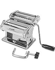 Navaris Machine à pâtes Manuelle - Laminoir pour pâtes fraîches - Spaghetti Lasagne tagliatelle - Appareil avec 9 épaisseurs différentes
