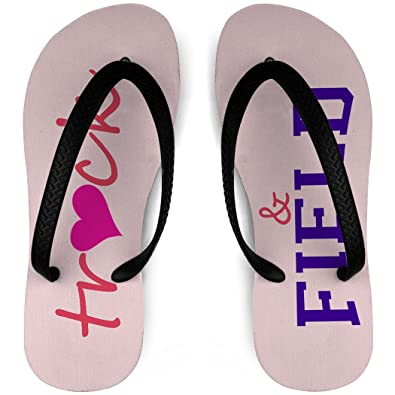 Track and Field Flip Flops Heart Track and Field