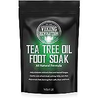 Tea Tree Oil Foot Soak with Epsom Salt - Athletes Foot, Toenail Fungus Treatment. Detox Foot Bath Soak for Foot Odour…