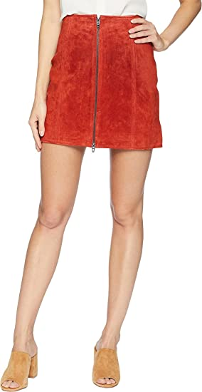 6633a5e1f7 [BLANKNYC]]]]]]] Blank NYC Womens Red Suede Zippered Mini Skirt in Redwood  at Amazon Women's Clothing store: