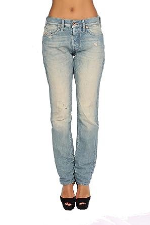 90a741e3 Diesel - Women's Jeans MYGUY 888P - Relaxed - Boyfriend - Non Stretch - Blue ,