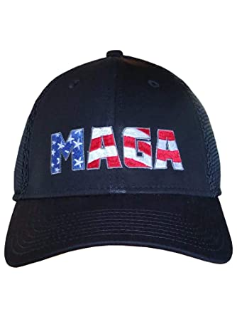 40cee4c1ac4ae MAGA Hat - New Era Structured Mesh Snap Back Cap ~ Trump Cap (Black ...