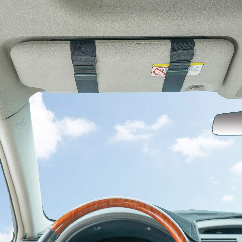 Gray WANPOOL Car Visor Sunshade Car Visor Anti-glare Sunshade Extender for Front Seat Driver or Passenger