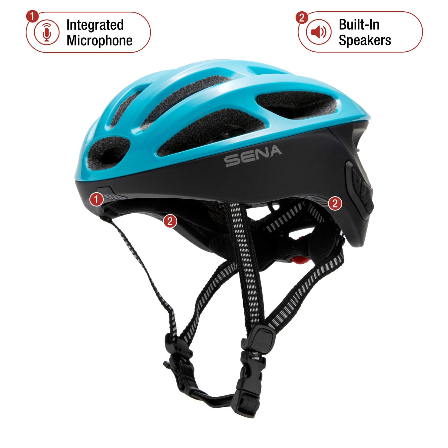 Sena R1 Smart Cycling Helmet Ice Blue, Large
