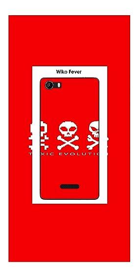 Onozo Carcasa Wiko Fever Design Toxic Evolution Red: Amazon ...
