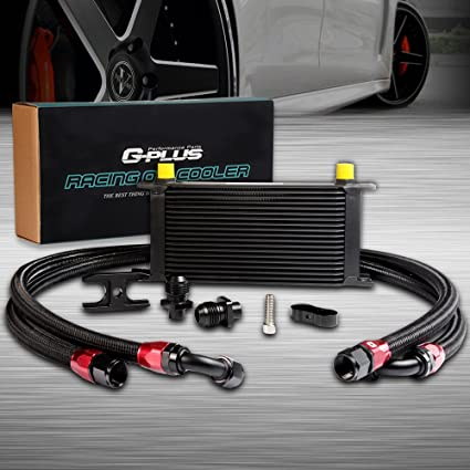 Amazon Com 19 Row 10an Engine Transmission Oil Cooler Kit For Bmw