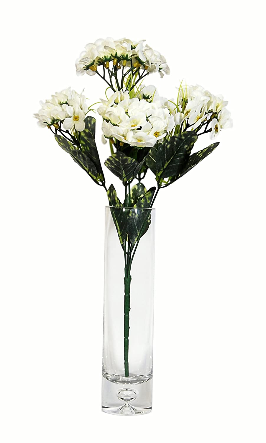 Buy Orchard Artificial Zinnia Flowers Bunch In A Glass Flower Vase Number 9 28cm X 28cm X 44cm Online At Low Prices In India Amazon In